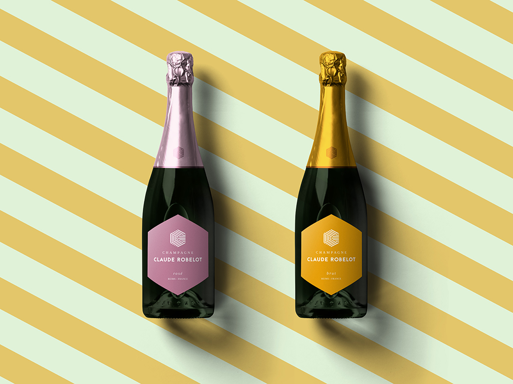 Bouteilles-Champagne Claude ROBELOT-Packaging-Reims